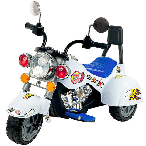 Harley Style Wild Child Motorcycle White - Battery Operated - Peazz.com