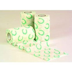 "Powerflex Bandage 4""x 5yds, Horseshoe Print"