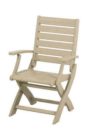 Polywood 1900-SA Signature Folding Chair in Sand - PolyFurnitureStore