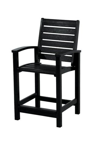 Polywood 1911-BL Signature Counter Chair in Black - PolyFurnitureStore