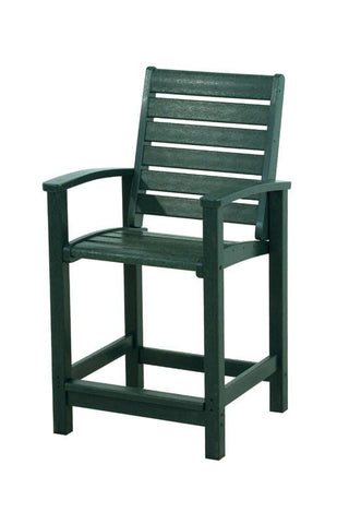 Polywood 1911-GR Signature Counter Chair in Green - PolyFurnitureStore