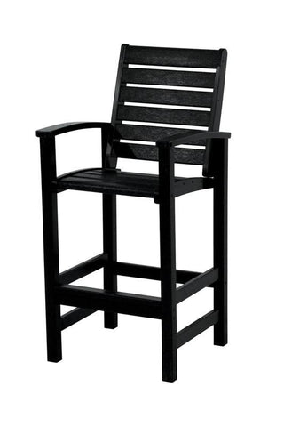 Polywood 1912-BL Signature Bar Chair in Black - PolyFurnitureStore