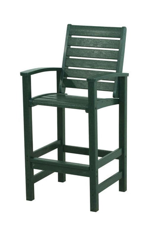 Polywood 1912-GR Signature Bar Chair in Green - PolyFurnitureStore