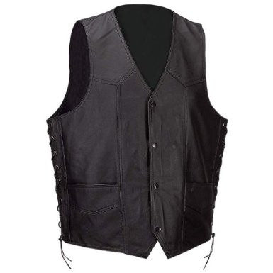 B&F System GFVSL3X Diamond Plate Solid Genuine Leather Vest