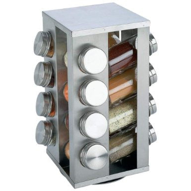 B&F System KTSPICE Chefs Secret 16-Jar Stainless Steel Rotating Spice Rack