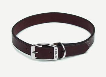 "C Lth Oak Tanned Collar 3/4""x18""-blk - Peazz.com"