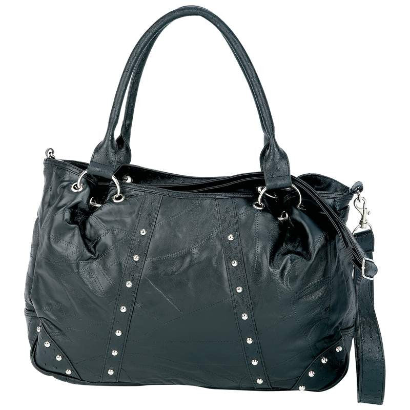 B&F System LUPURS4 Embassy Studded Italian Stone Design Genuine Lambskin Leather Purse BNF-LUPURS4