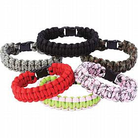 B&F System SPCORDW Maxam 12pc Paracord Bracelet Set - Peazz.com