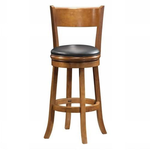 "Boraam 24"" Palmetto Swivel Stool - Fruitwood (45124) - BarstoolDirect.com"