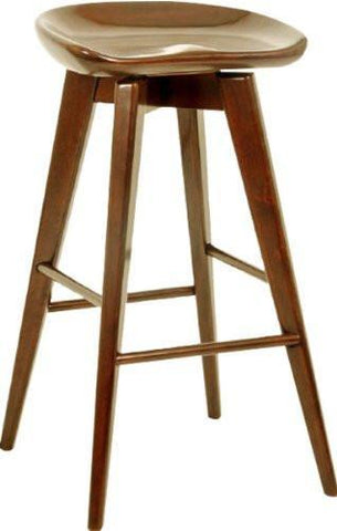 "Boraam 24"" Bali Swivel Stool, Walnut Walnut - 55124 - Peazz Furniture"