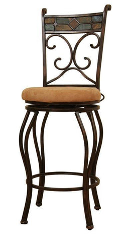 "Boraam 24"" Beau Swivel Stool - Black/Gold (80416) - BarstoolDirect.com"