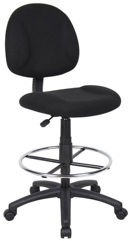 Boss Office Products B1615-BK Boss Drafting Stool (B315-Bk) W/Footring - Peazz.com