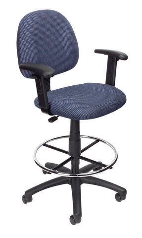 Boss Office Products B1616-BE Boss Drafting Stool (B315-Be) W/Footring And Adjustable Arms - Peazz.com