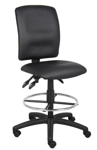 Boss Office Products B1645 Boss Multi-Function Leatherplus Drafting Stool - Peazz.com