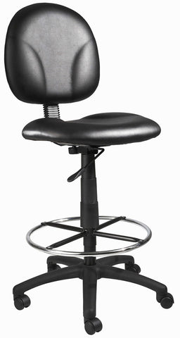 Boss Office Products B1690-CS Boss Black Caressoft Drafting Stools W/Footring - Peazz.com