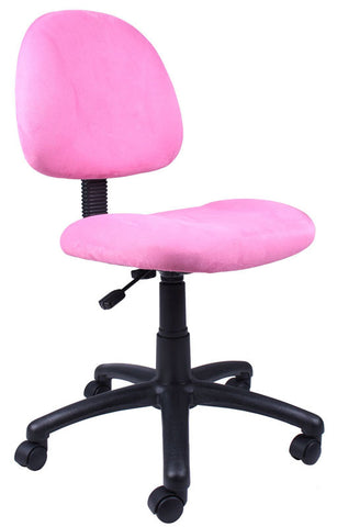Boss Office Products B325-PK Boss Pink Microfiber Deluxe Posture Chair - Peazz.com