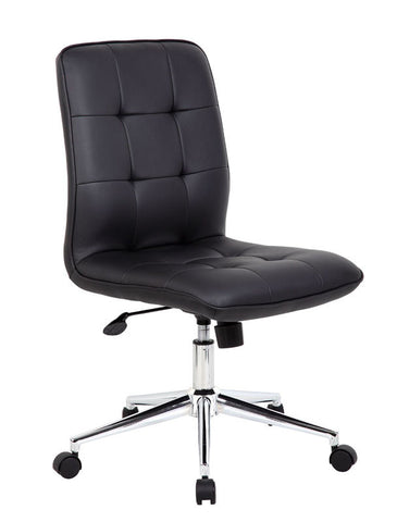 Boss Office Products B330-BK Modern Office Chair - Black - Peazz.com