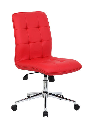 Boss Office Products B330-RD Modern Office Chair - Red - Peazz.com