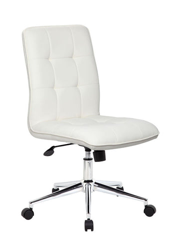 Boss Office Products B330-WT Modern Office Chair - White - Peazz.com