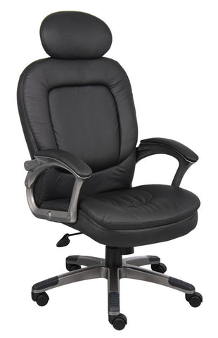 Boss Office Products B7101 Boss Executive Pillow Top Chair W/ Headrest - Peazz.com