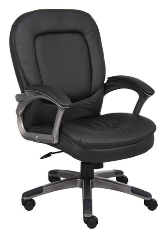 Boss Office Products B7106 Boss Executive Pillow Top Mid Back Chair - Peazz.com