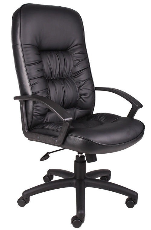 Boss Office Products B7301 Boss High Back Leatherplus Chair BOS-B7301
