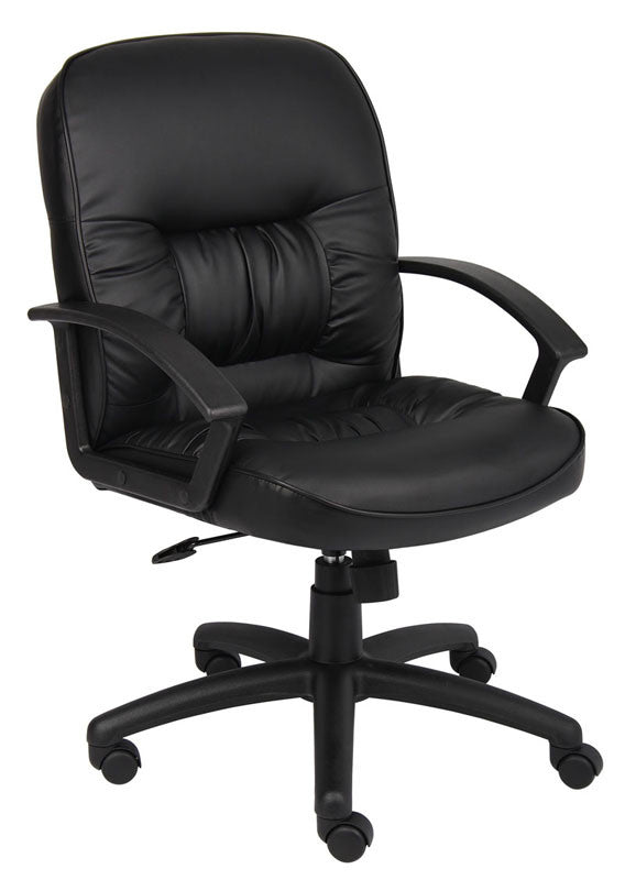 Boss Office Products B7306 Boss Mid Back Leatherplus Chair BOS-B7306