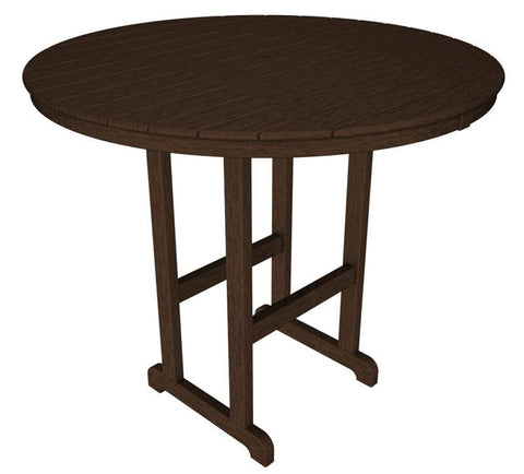 "Polywood RBT248MA Round 48"" Bar Table in Mahogany - PolyFurnitureStore"
