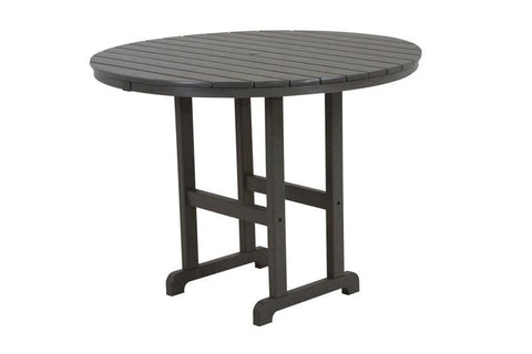 "Polywood RRT248GY Round 48"" Counter Table in Slate Grey - PolyFurnitureStore"