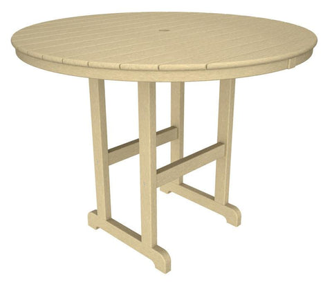 "Polywood RRT248SA Round 48"" Counter Table in Sand - PolyFurnitureStore"