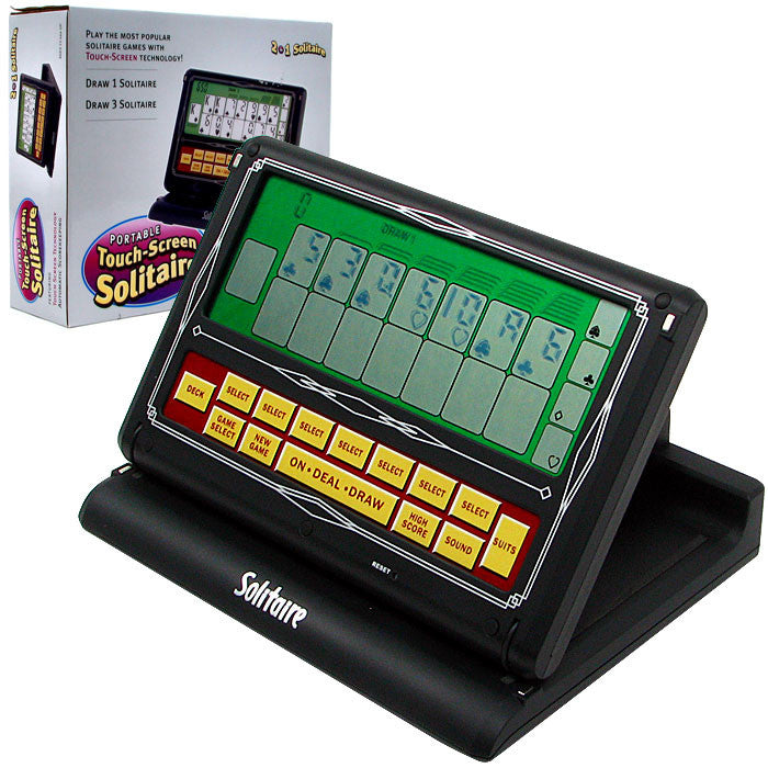 Portable Video Solitaire Touch-Screen 2-in-1 Game TMC-10-41985