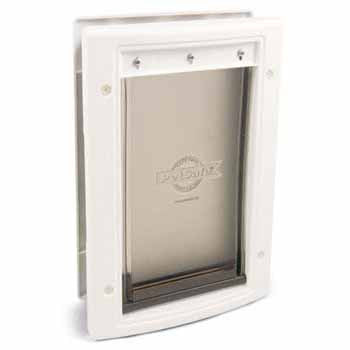 PetSafe Plastic Pet Door Premium White - Medium (PPA00-10959) - Peazz.com - 1