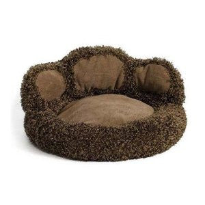 """Quiet Time Boutique Paw Bed Chocolate 21"""" x 21"""" x 9.5"""