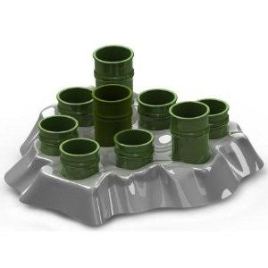 "Stimulo Activity Food Center For Cats Grey/green 11.5"" X 11"" X 2"""
