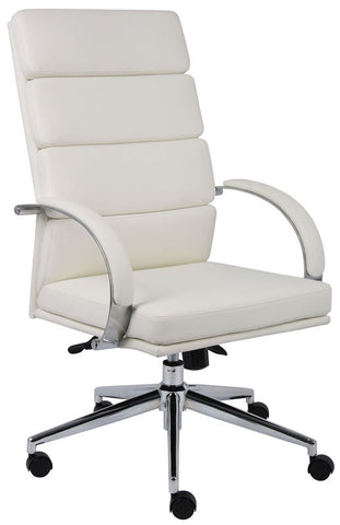Boss Office Products B9401-WT Boss Caressoftplus Executive Series - Peazz.com