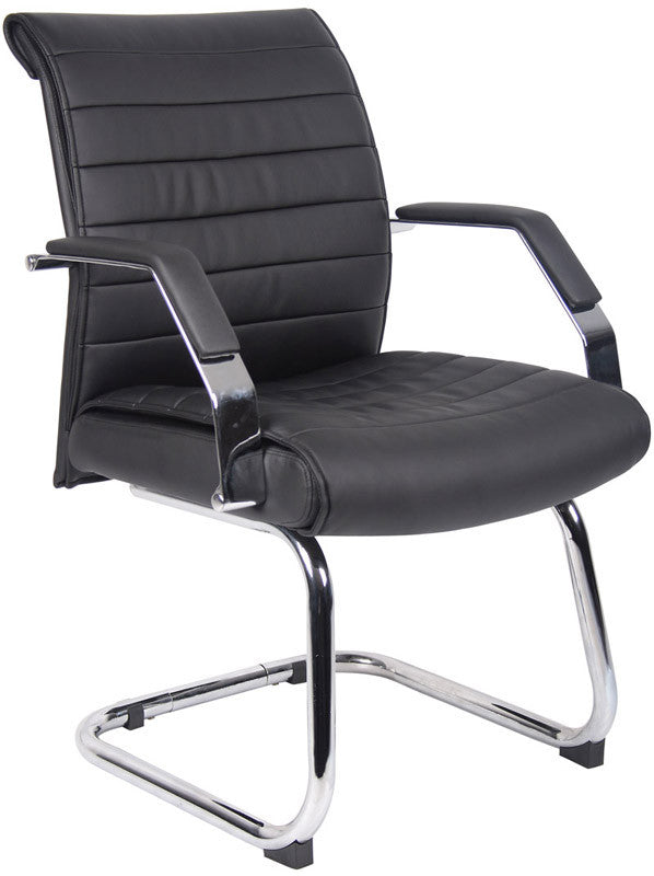 Boss Office Products B9449 Boss Ribbed Guest Chair BOS-B9449