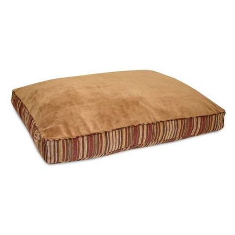 "Petmate PTM27480 Microban Antimicrobial Deluxe Pillow Caramel / Stripe Chenille 27"" x 36"" x 4"" - Peazz.com"