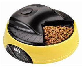 QPets Automatic Feeder 4 Meals with Recorder & LCD Display AF-105 - Peazz.com