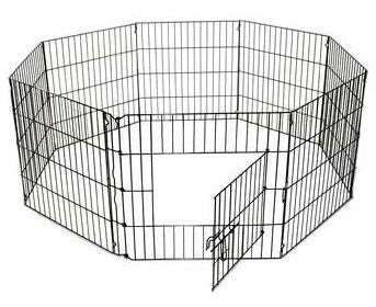 QPets QPP-800 8 Panels Pet Execise Pen - 24'W x 30'H - Peazz.com