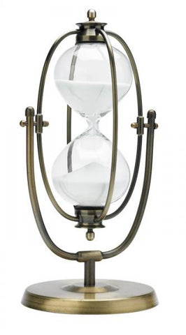 13 Inch 60 Minute Brass Flip-over Hourglass Timer - Peazz.com
