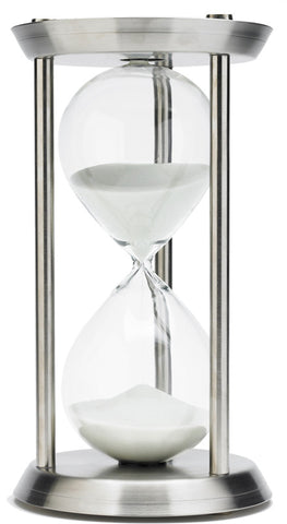 13 Inch 60 Minute Stainless Steel Hourglass Timer - Peazz.com
