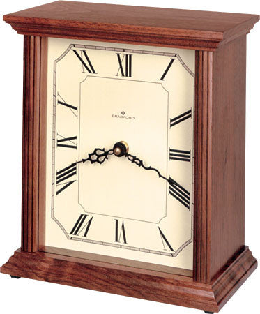 Bradford 370033 The Hudson Mantle Clock Walnut Finish - Peazz.com