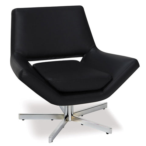 "Office Star Ave Six YLD5130-B18 Yield 31"" Wide Chair in Black Faux Leather - Peazz.com"