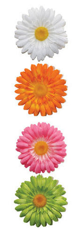 3-D Gerber Daisy Peel & Stick Wall Decals (ACC0001F3D) - Peazz.com