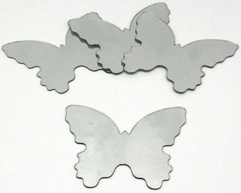 Butterfly Peel & Stick Mirror (Small - 4 pieces) (MIR0008BTS) - Peazz.com
