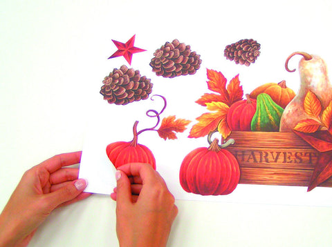 Bountiful Harvest Peel & Stick Wall Decals (PJ2000SCS) - Peazz.com