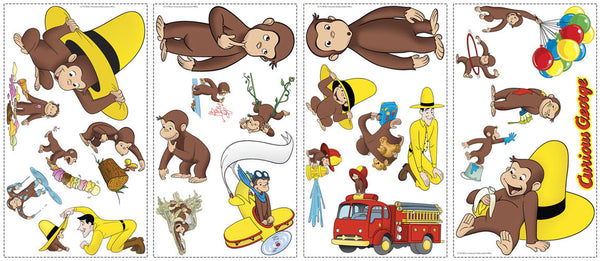 Curious george peel stick wall decals rmk1037scs for Curious george giant wall mural
