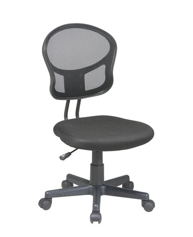 Office Star OSP Designs EM39800-3 Mesh Task chair in Black Fabric - Peazz.com