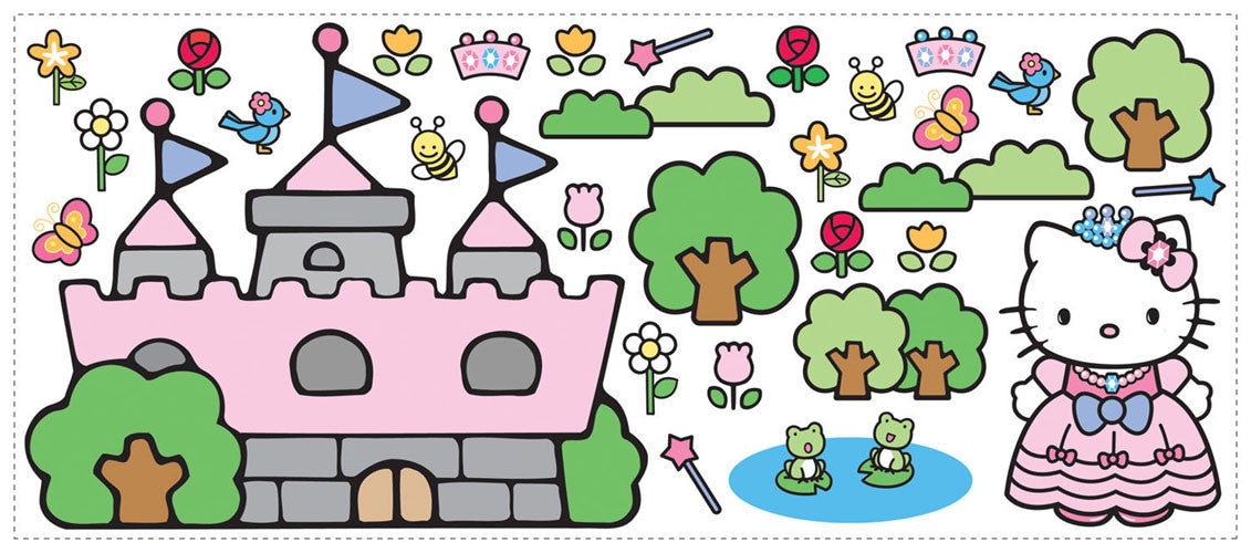 Hello Kitty Princess Castle Giant Wall Decal (RMK1200GM)