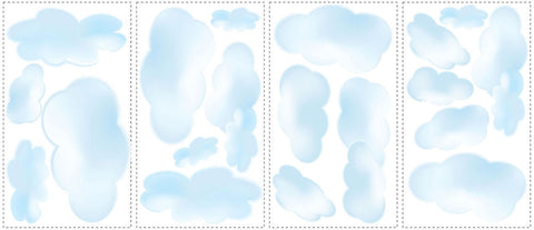 Clouds Peel & Stick Wall Decals (RMK1250SCS) - Peazz.com